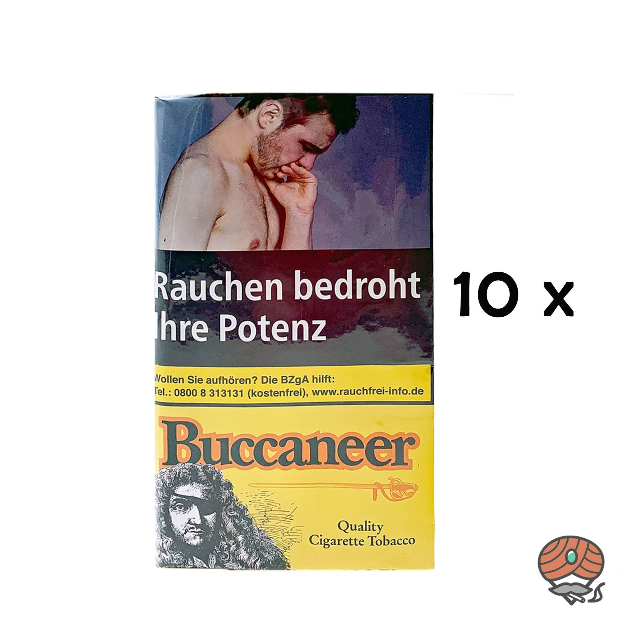 10 x Buccaneer Drehtabak / Feinschnitttabak Whisky Aroma