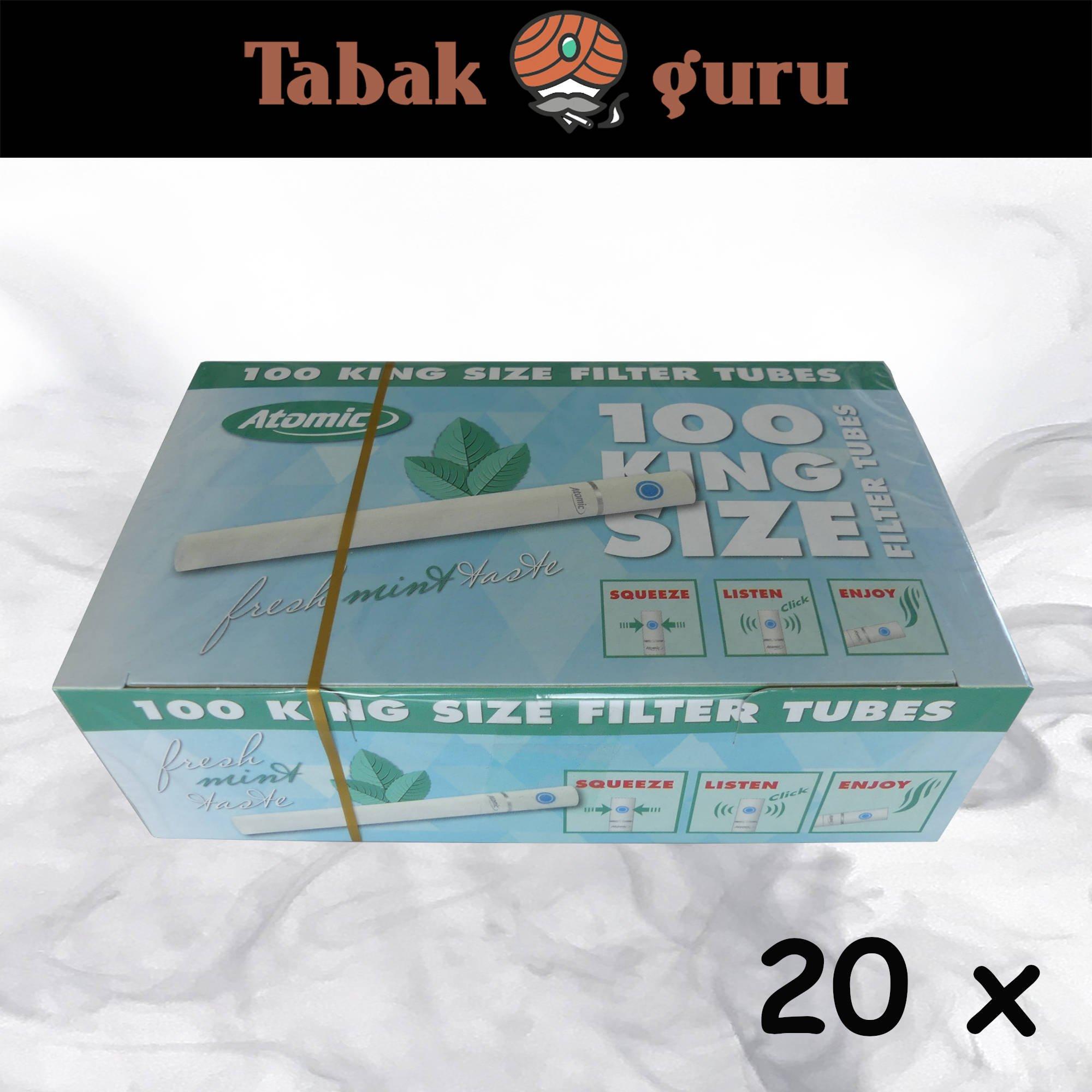 20x Atomic Fresh mint taste Click-Zigarettenhülsen