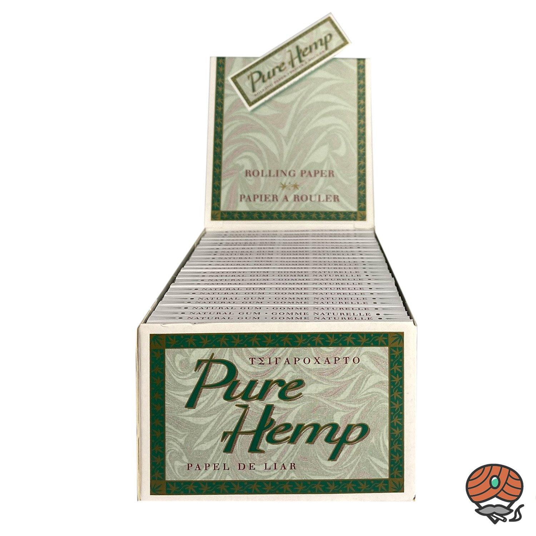 Box Pure Hemp Zigarettenpapier/ Drehpapier 50 Hefte à 50 Blatt