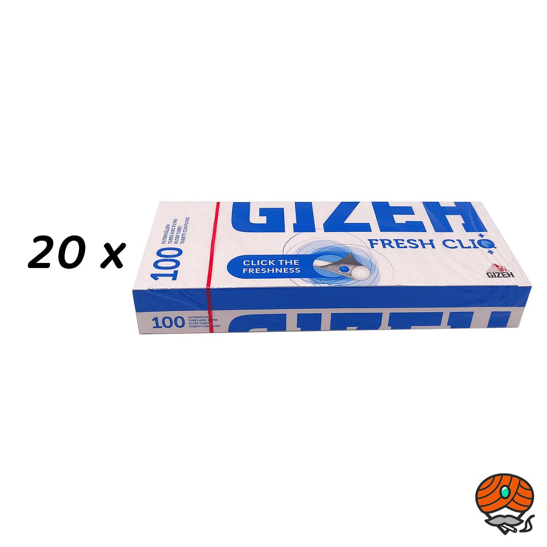 20 x 100 Gizeh FRESH CLIQ Filterhülsen