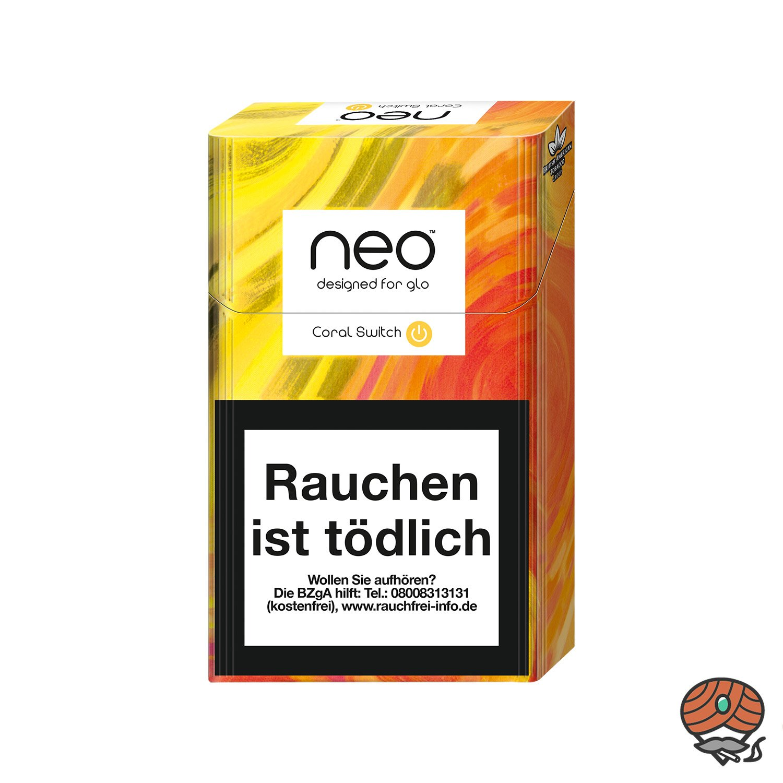 neo Coral Switch für GLO - Tabak Sticks 20 Stück