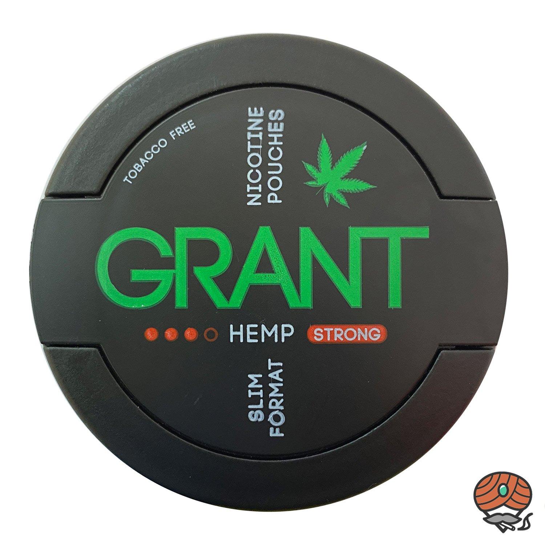 GRANT Hemp Kautabak / Nicotine Pouches Slim Format Stärke 3 STRONG