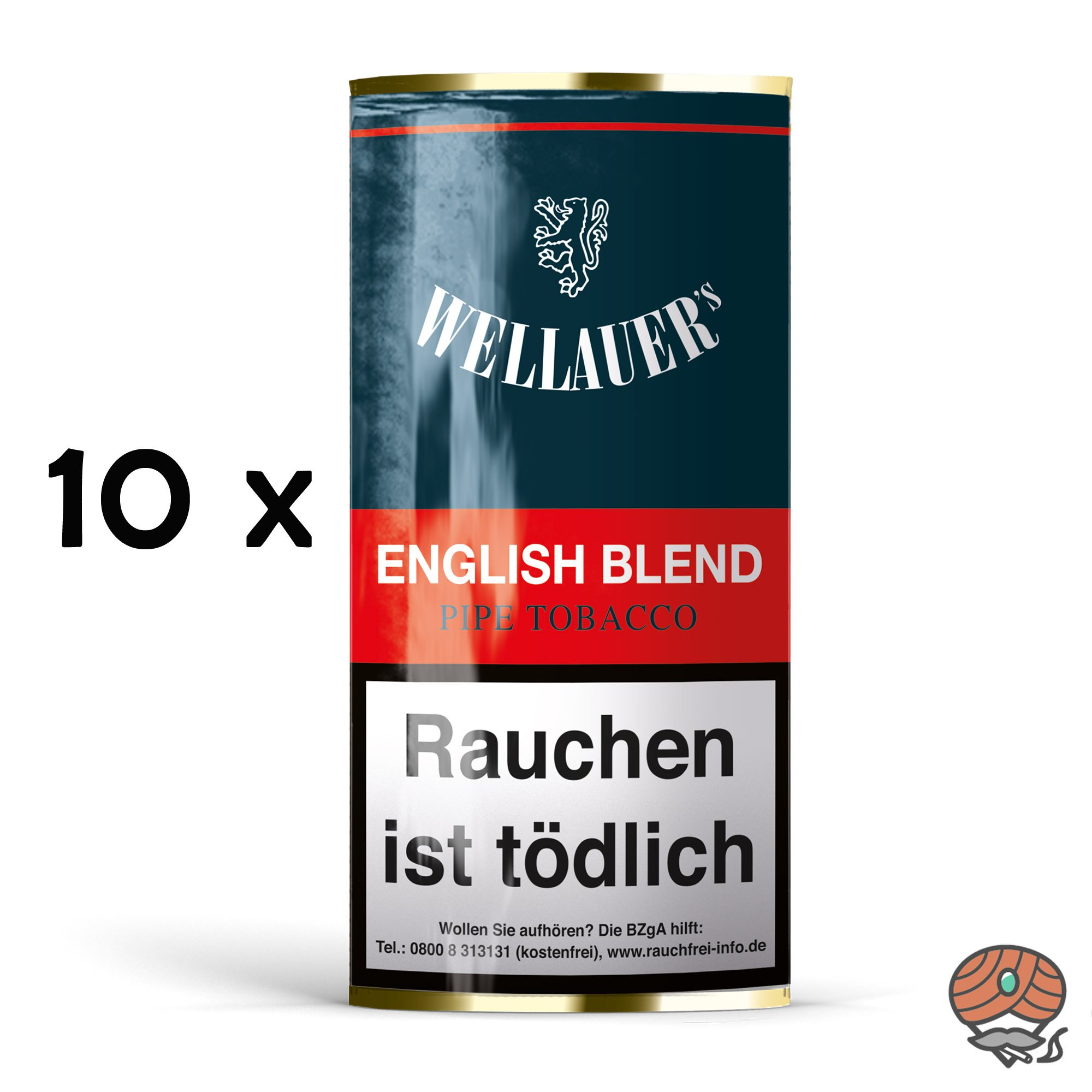 10x Wellauer´s English Blend Pfeifentabak á 50g