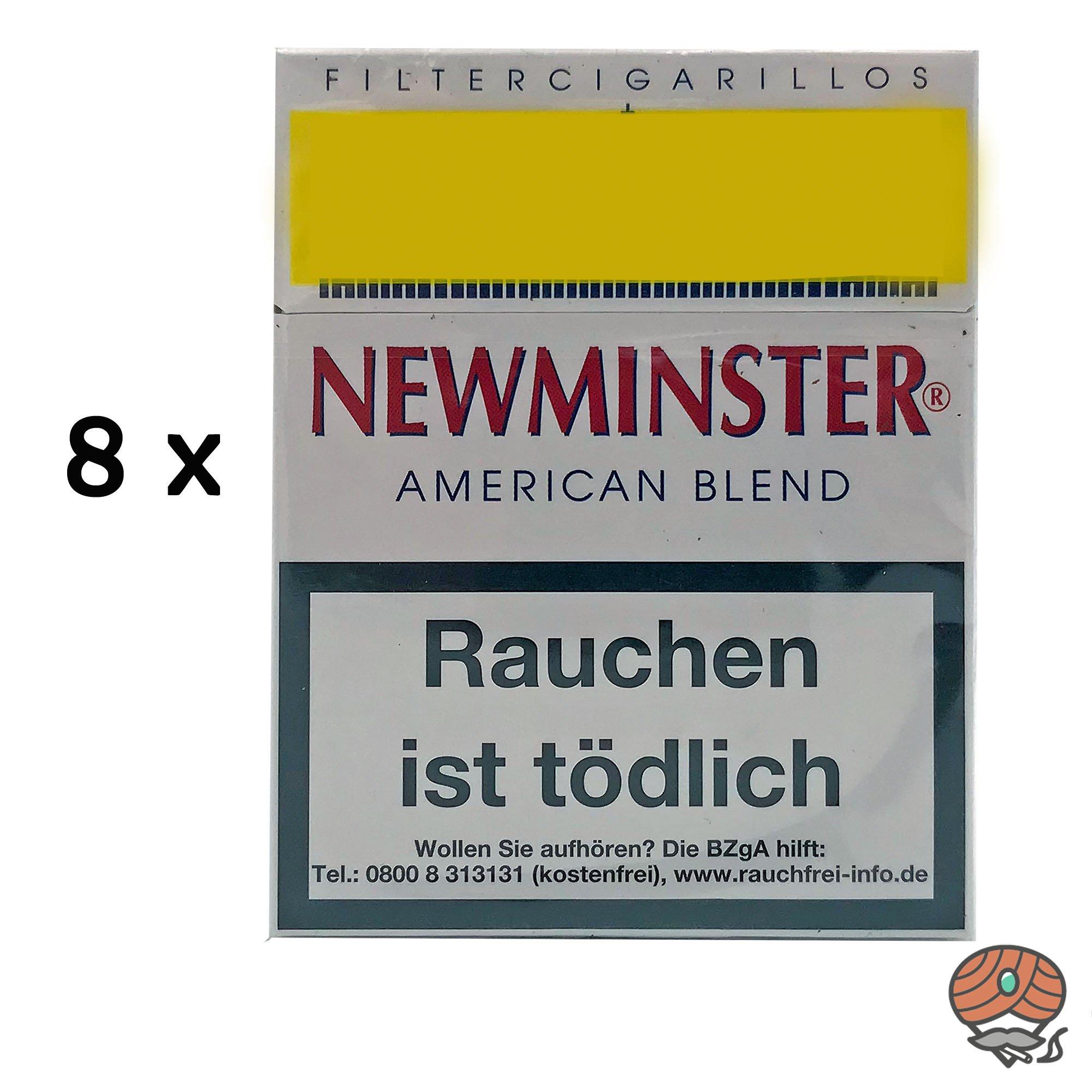 8 x Newminster American Blend Filterzigarillos a 23 Stück