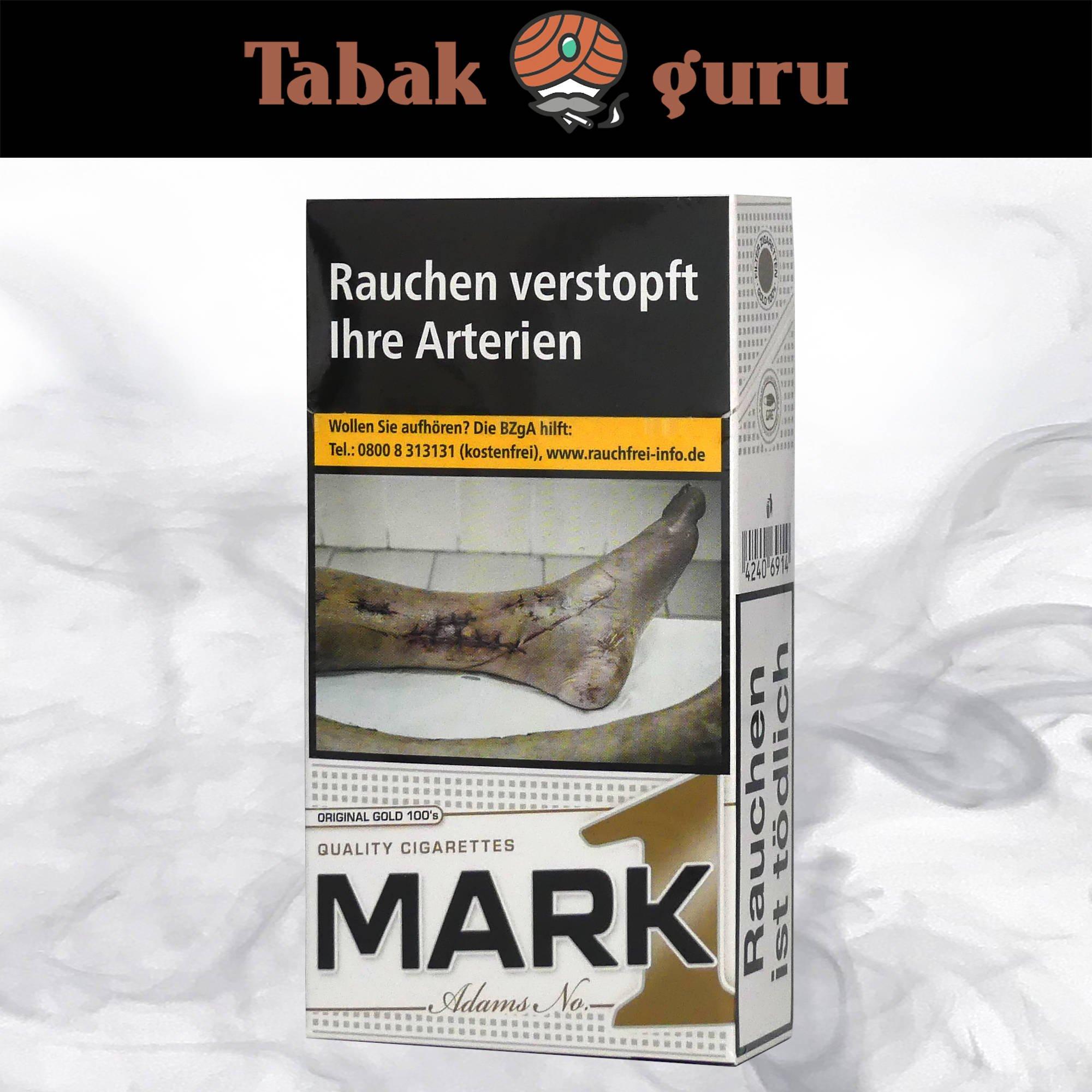 Mark Adams No. 1 / Mark1 Original Gold 100's 20 Stück