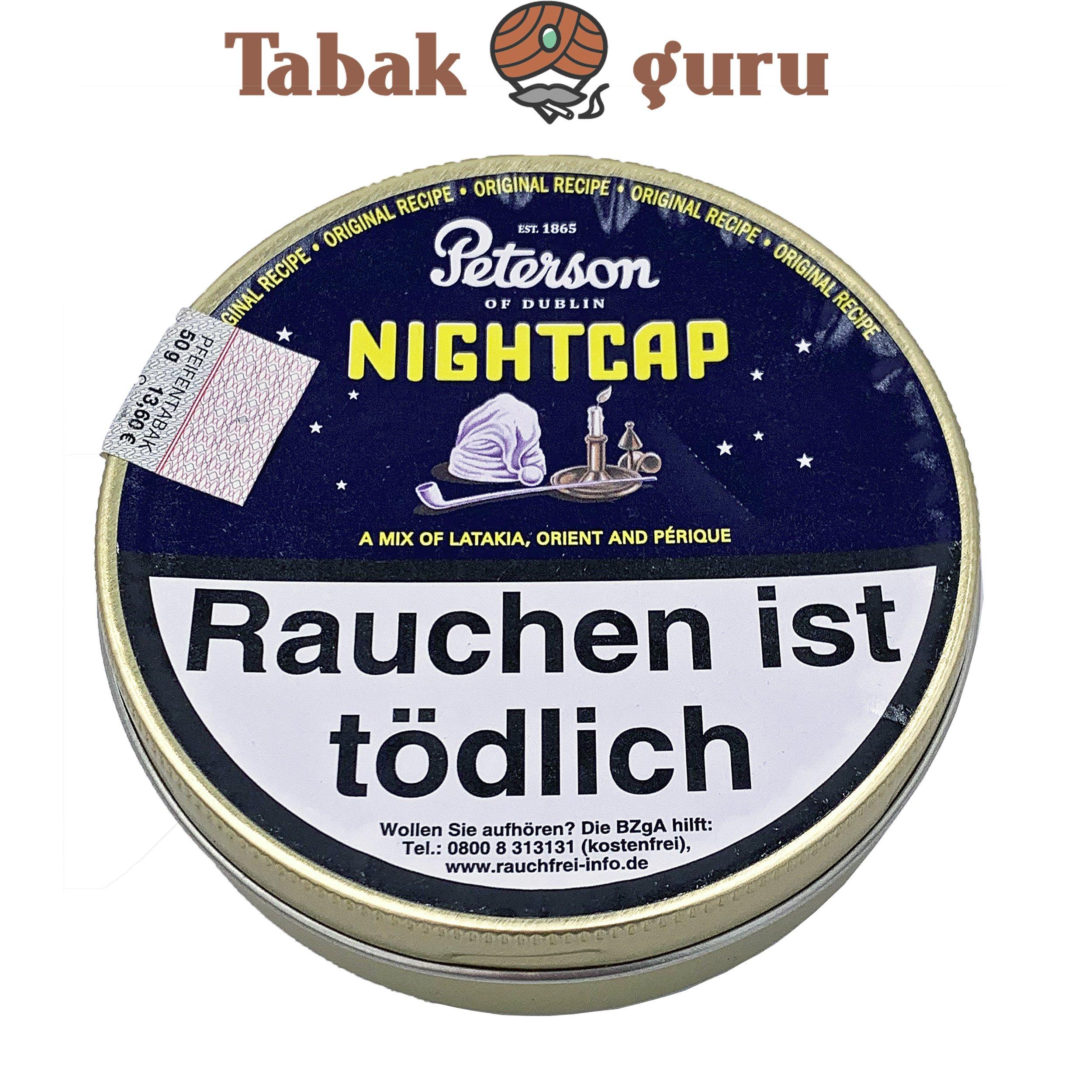 Peterson NightCap / Night Cap Pfeifentabak in der 50g Dose