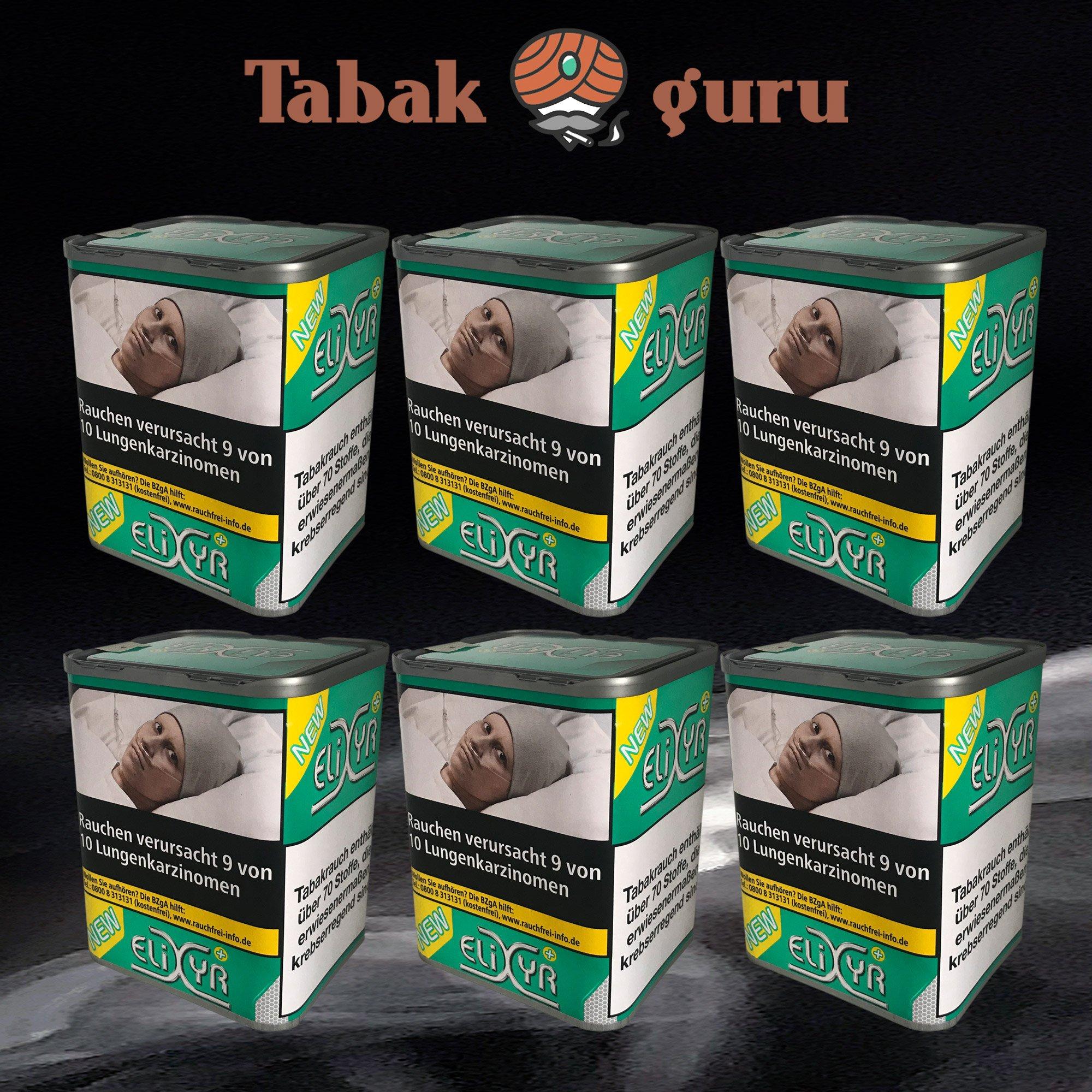 6 x Elixyr PLUS Tabak 115g Zigarettentabak
