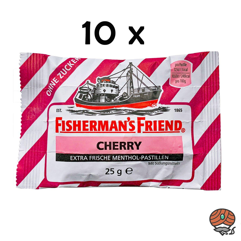 10 x Fisherman`s Friend Menthol-Pastillen Cherry