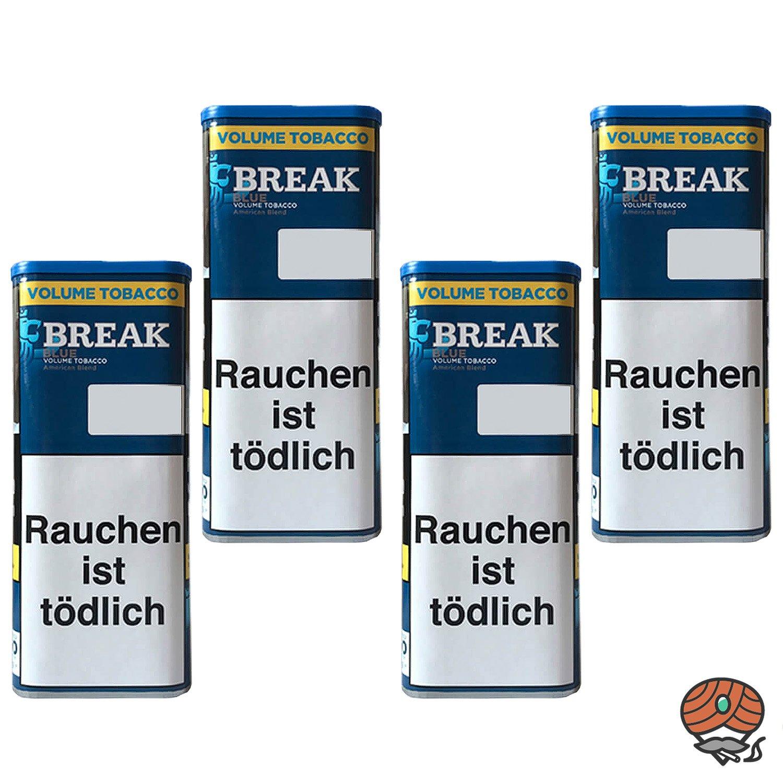 4x Break Blue / Blau Volumentabak / Tabak XXL Dose à 115g