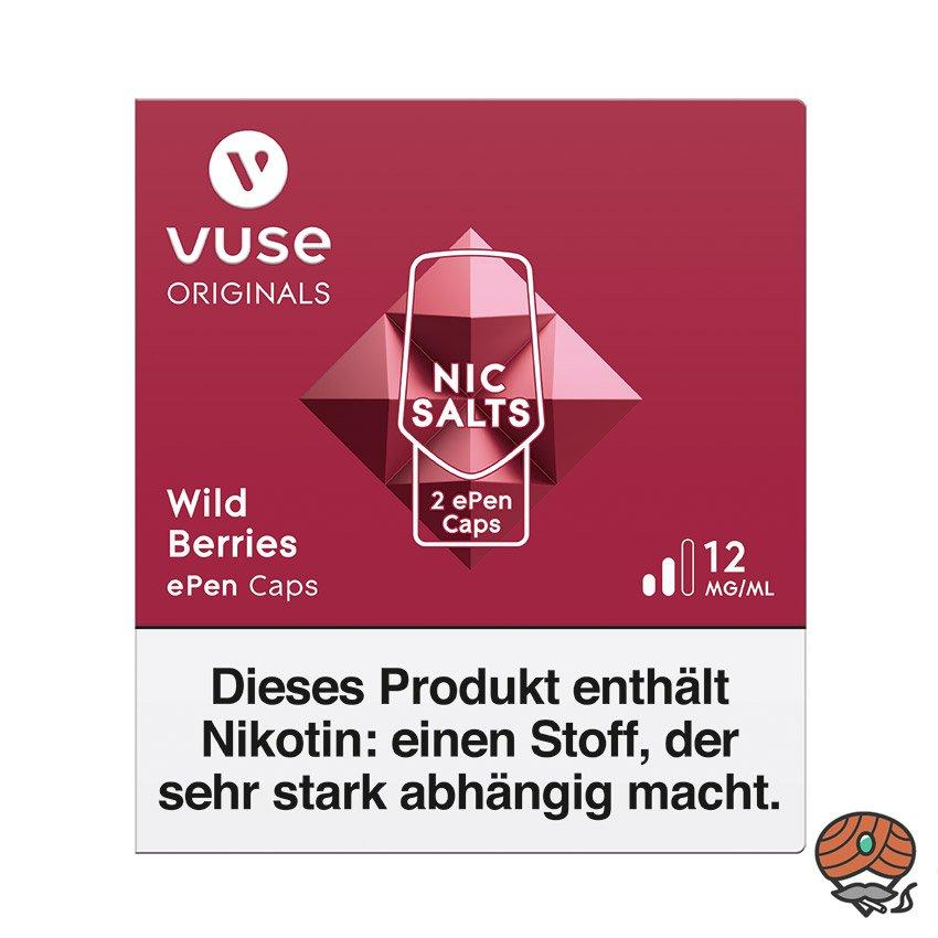 Vuse ePen Caps 1x Wild Berries 12 mg/ml à 2 Caps (ehem. Vype ePen3)