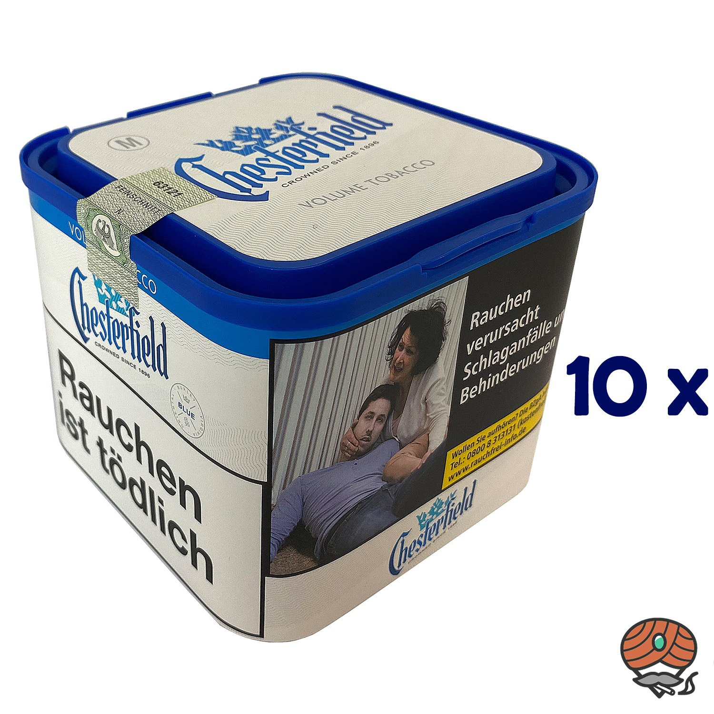 10x Chesterfield Blue Volumentabak M Dose à 42g