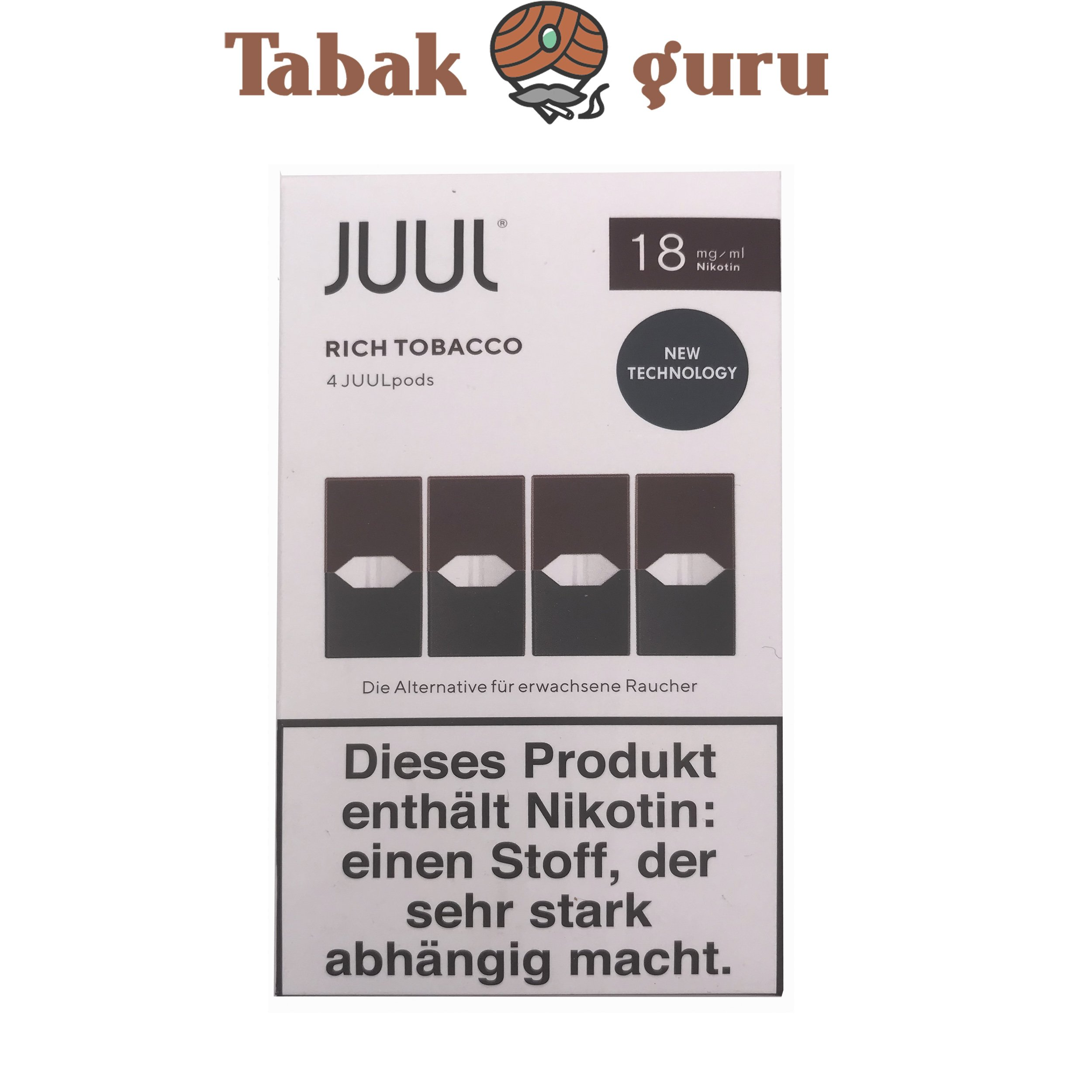 JUUL 3 Packungen Mint, Rich Tobacco, Royal Creme á 4 Pods 18mg
