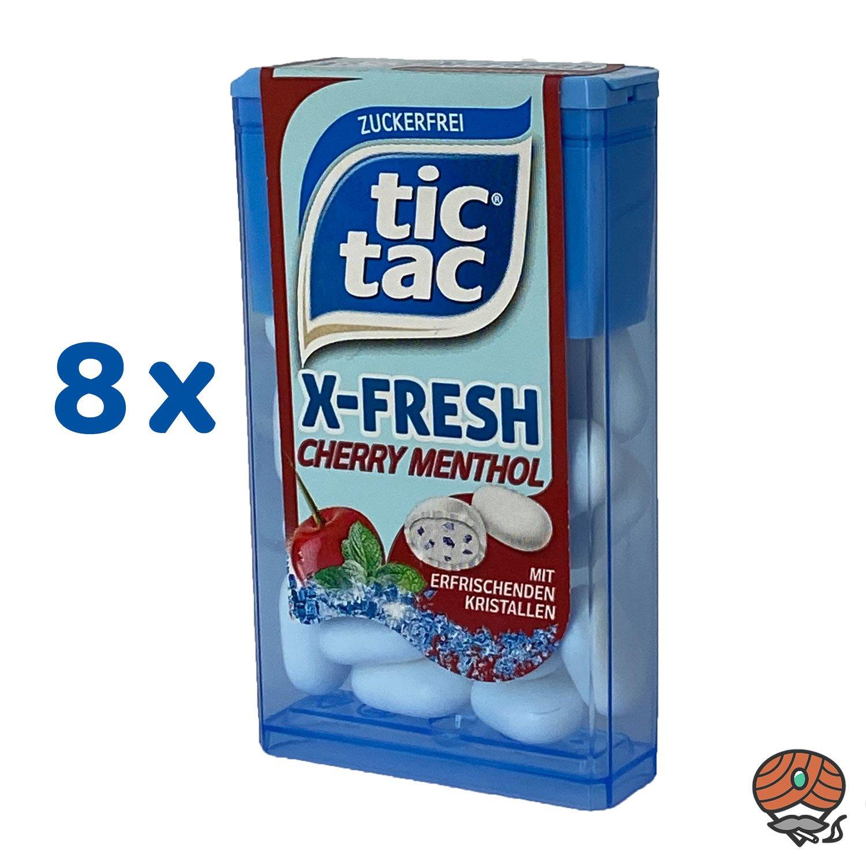 8 x Tic Tac X-Fresh, Cherry Menthol Dragee 16,4 g
