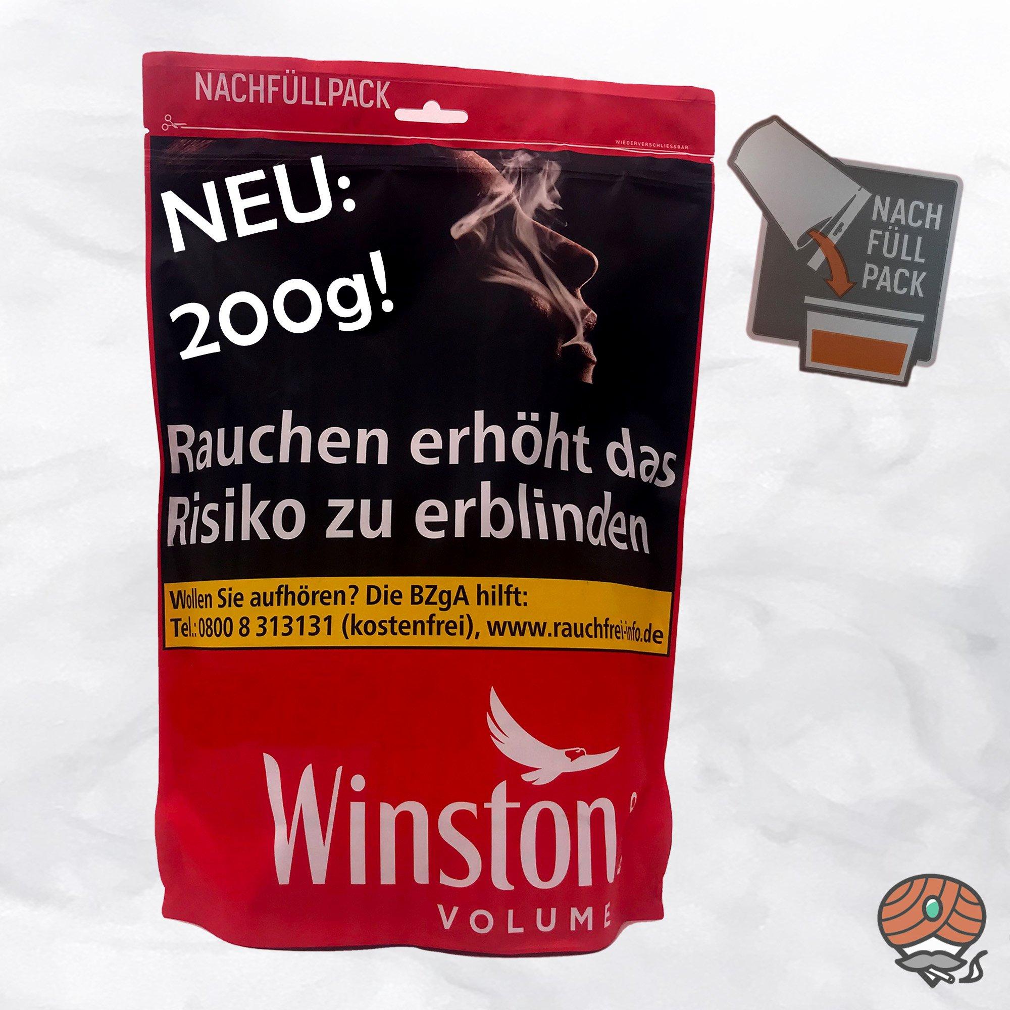 Winston Volume Red / Rot Tabak Nachfüllpack 200g Beutel