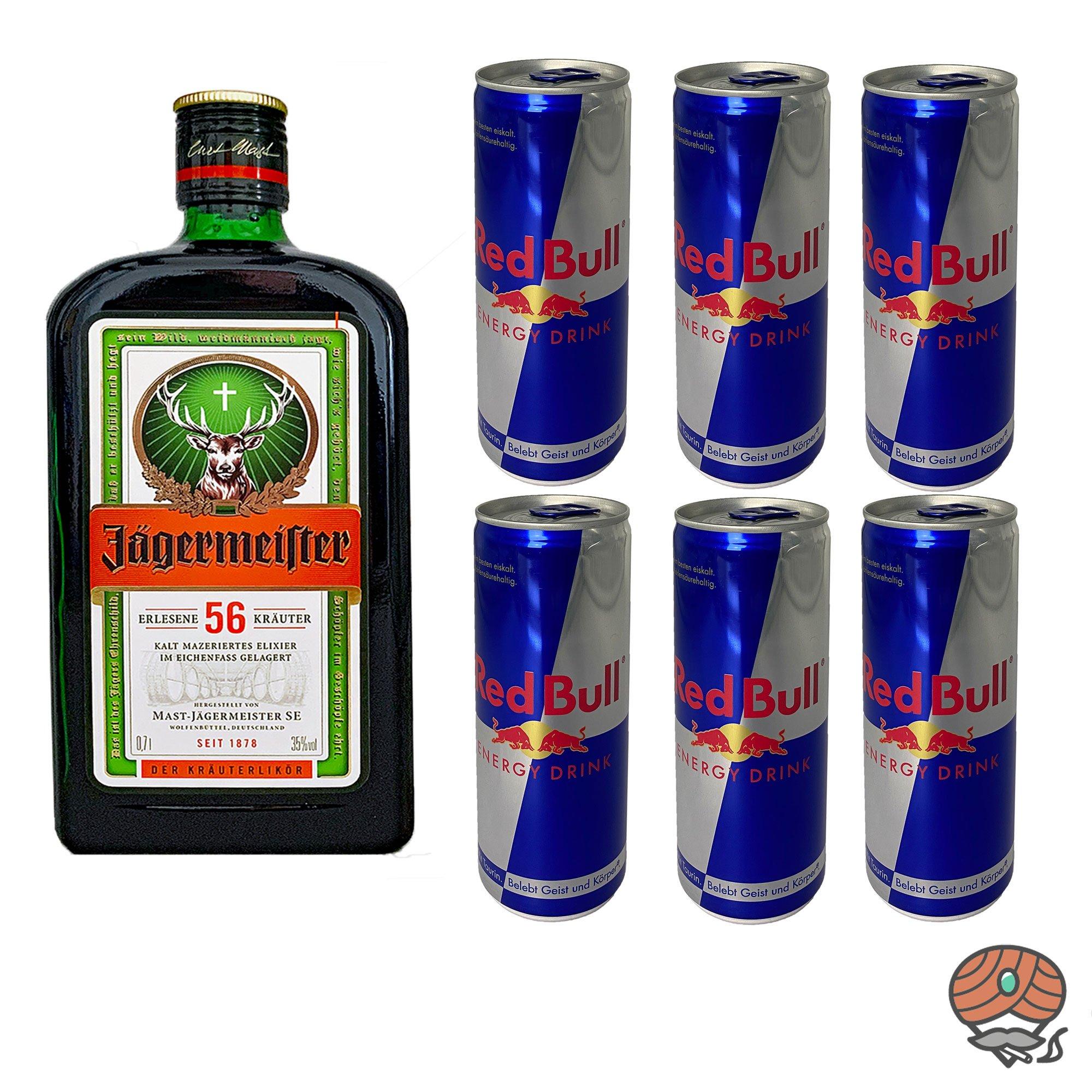 Jägermeister Red Bull (0,7l Jägermeister + 6 x Red Bull inkl. Pfand)