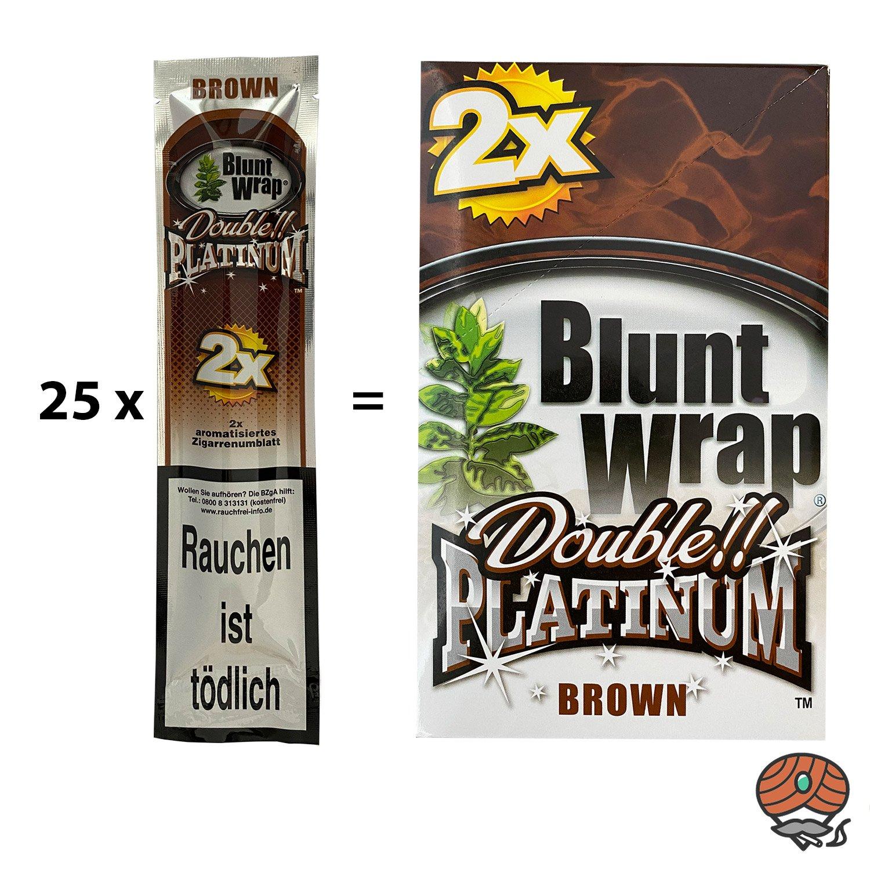 25 x Blunt Wrap BROWN (Schokolade) - Paperersatz aus echten Tabakblättern