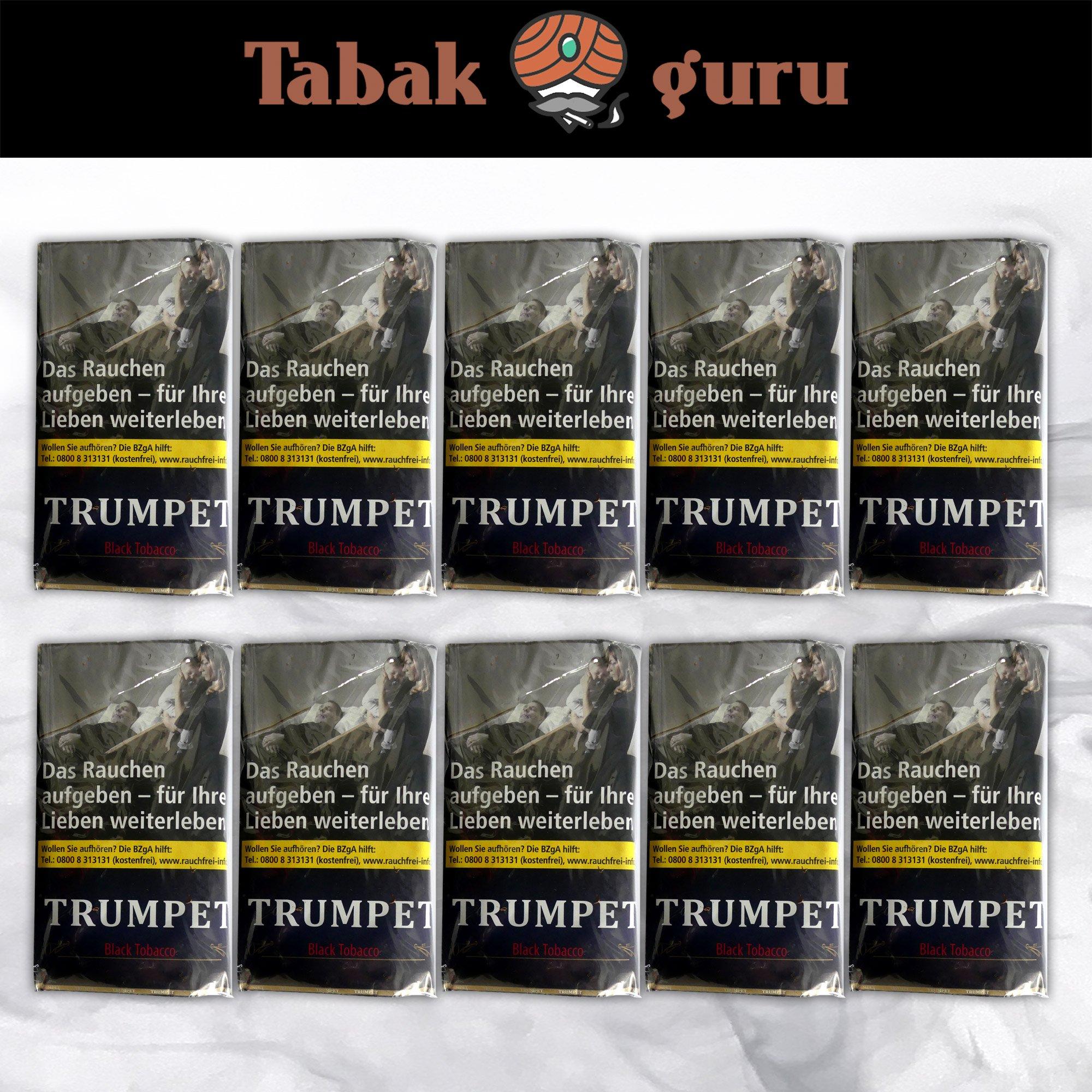 10 x Trumpet Black Tobacco Drehtabak à 38 g