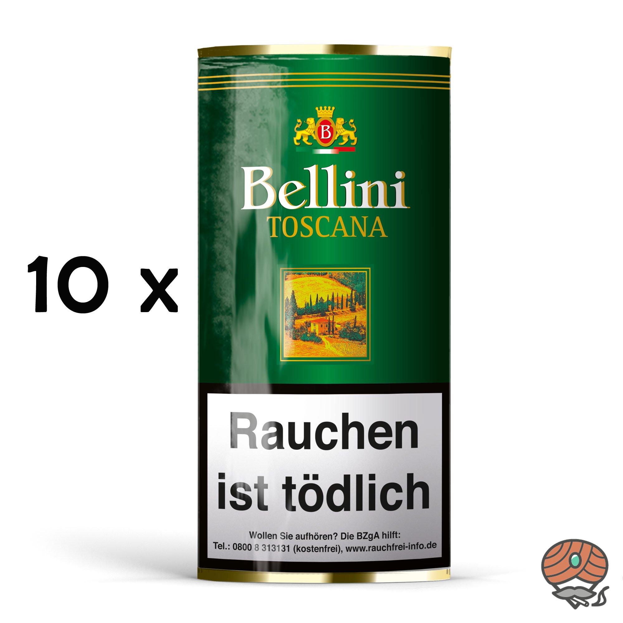10 x Bellini Toscana Pfeifentabak 50g Pouch