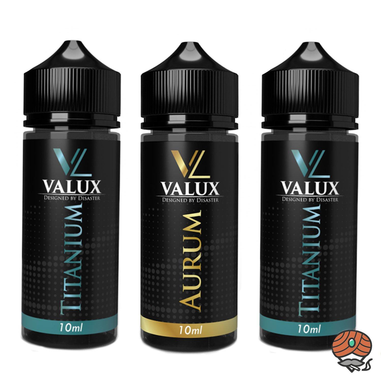 3 x Valux Titanium und Aurum 10 ml Aroma + Leerflasche, Longfill