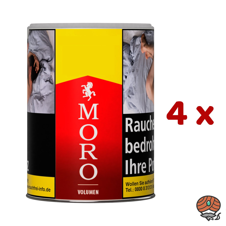 4 x Moro Rot Volumentabak Dose à 52 g