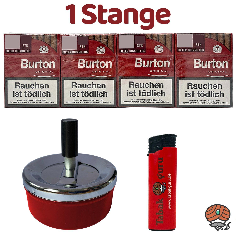 1 Stange Burton Original Filter Zigarillos (25 Stück / Schachtel) + Zubehör