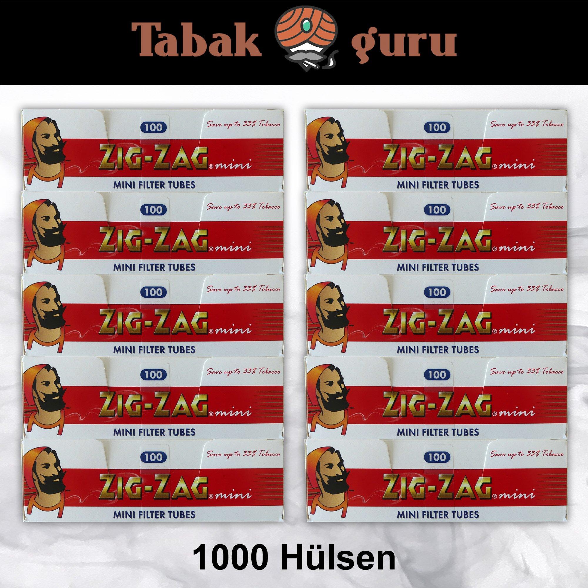 10 x 100 Zig-Zag Mini Filterhülsen