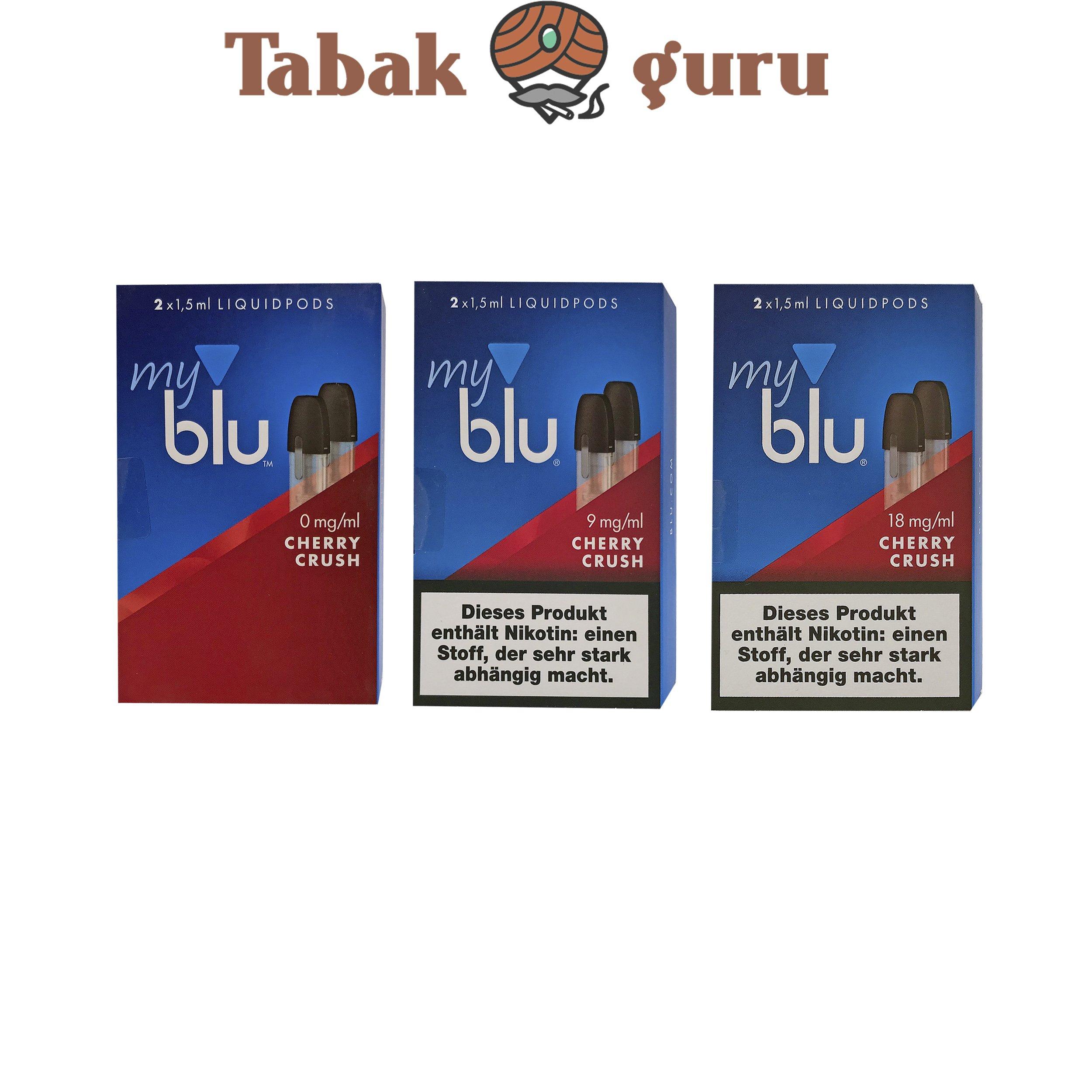 3x My Blu Liquid Pods Cherry Crush 0 mg / 9 mg / 18 mg