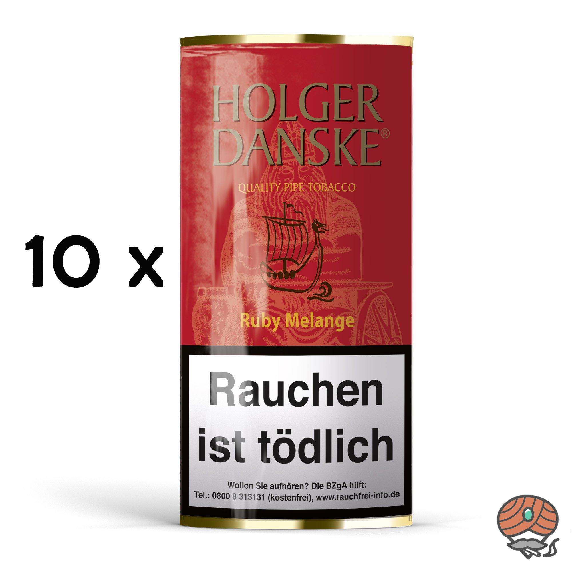 10 x Holger Danske Ruby Melange Pfeifentabak à 40g Beutel