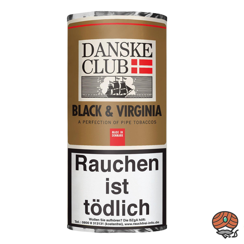 Danske Club Black & Virginia Pfeifentabak 50g Pouch / Beutel