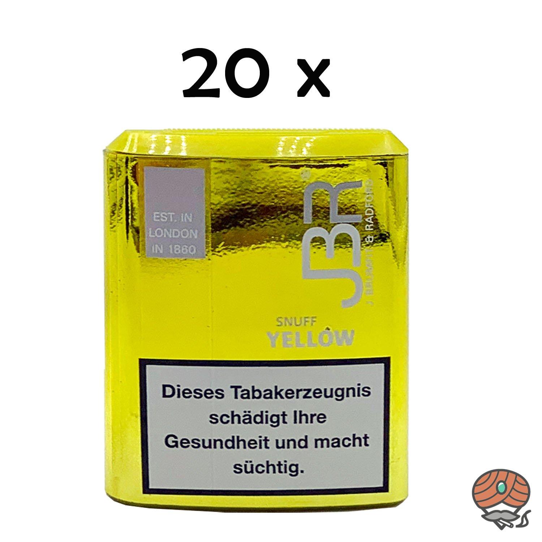 JBR Yellow Snuff Schnupftabak von Pöschl 20x10g Dosen