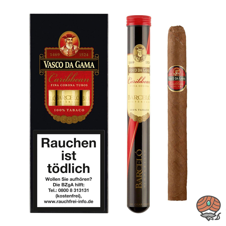 Vasco da Gama Corona Caribbean (Rum) Nr. 86 Zigarren, 3 Stück