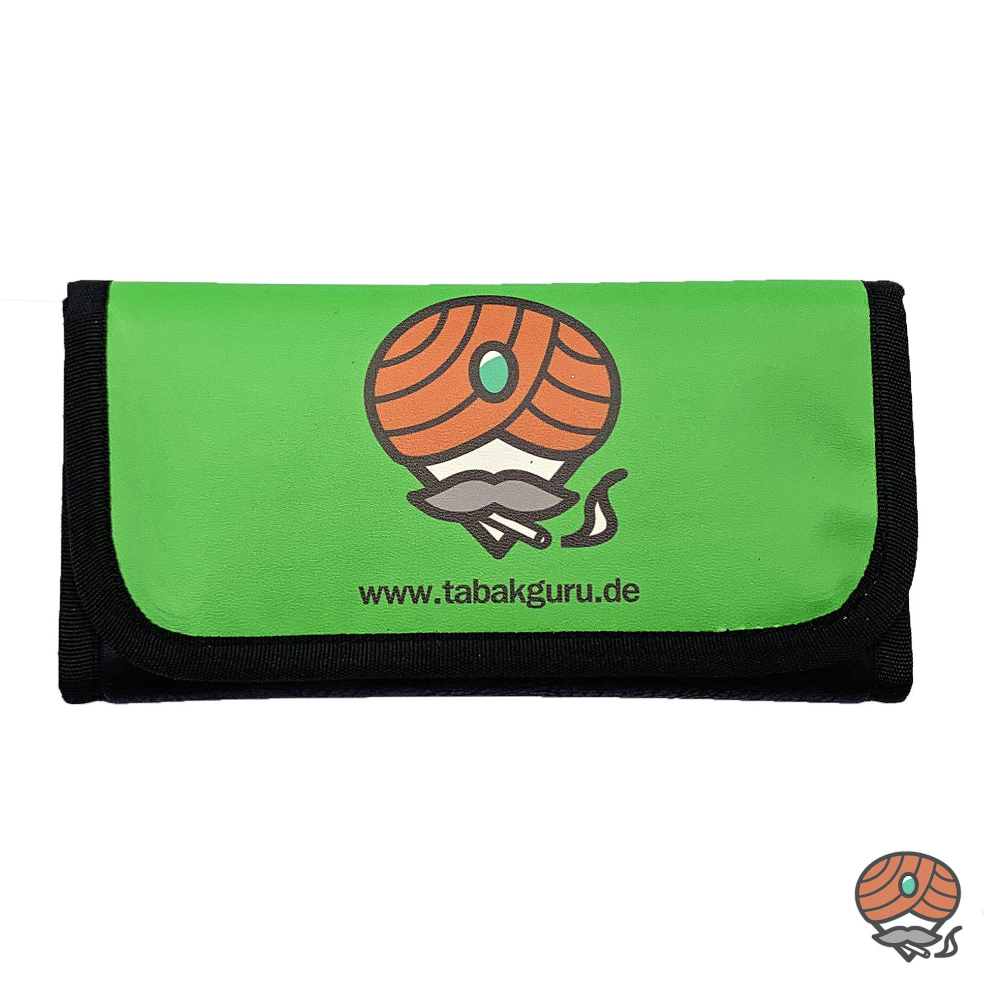 Tabakguru Tabak Beutel / Tasche für Drehtabak und Zubehör Hellgrün / Schwarz