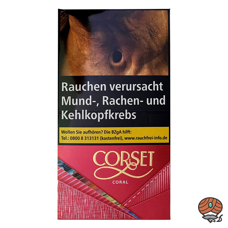 CORSET CORAL 100er Slim Zigaretten, 20 Stück
