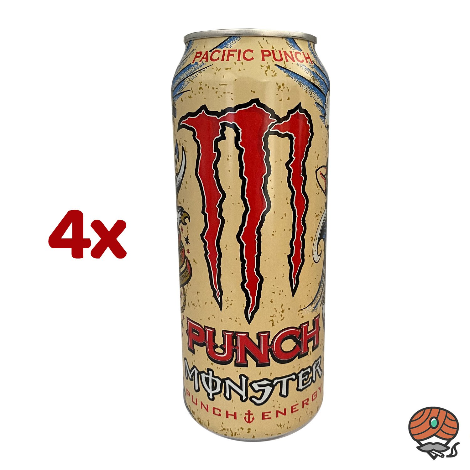 4 x Monster Pacific Punch, Energy Drink, 500 ml Dose