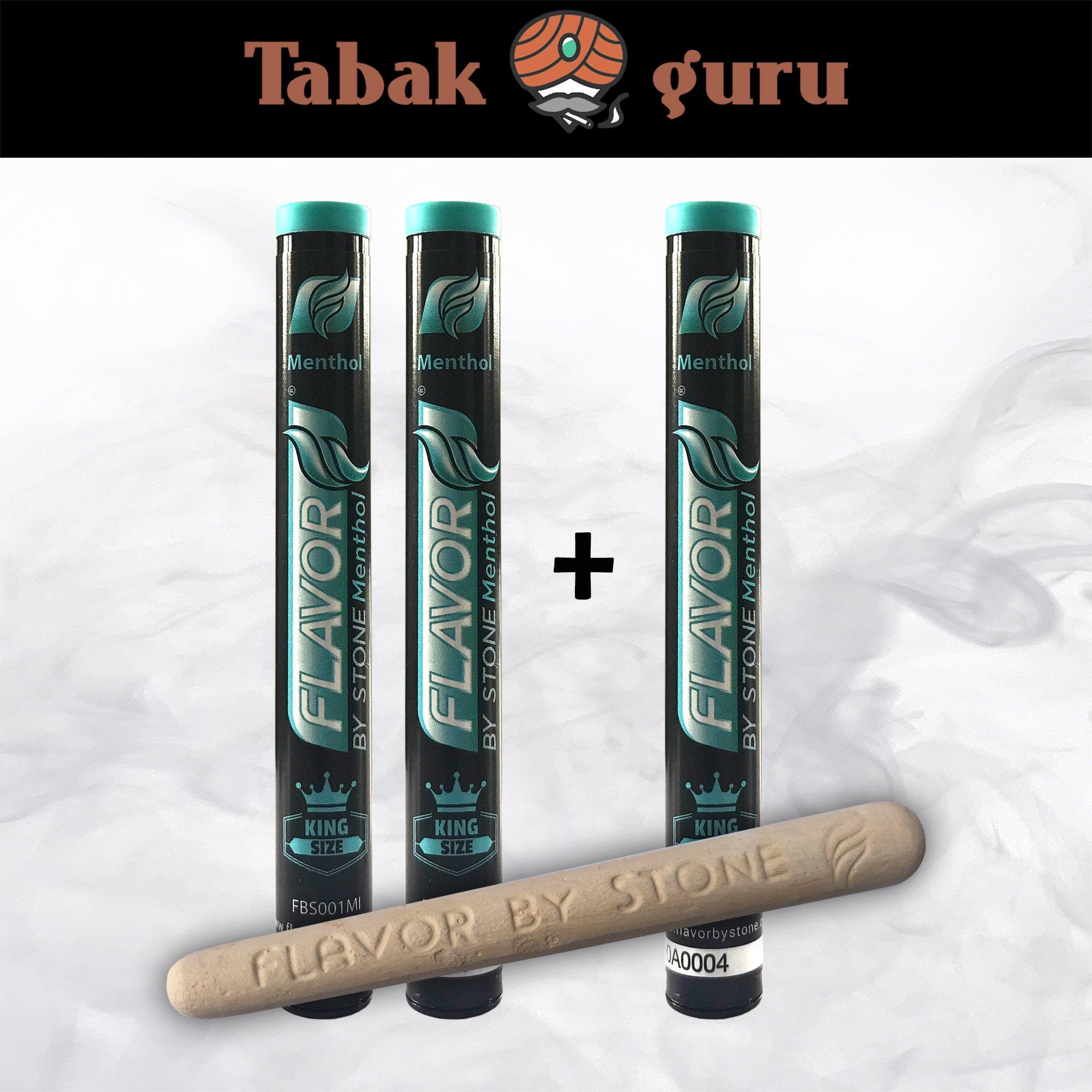 2x Menthol-Stein: Menthol-Aroma für Zigaretten & Tabak + 1 geschenkt