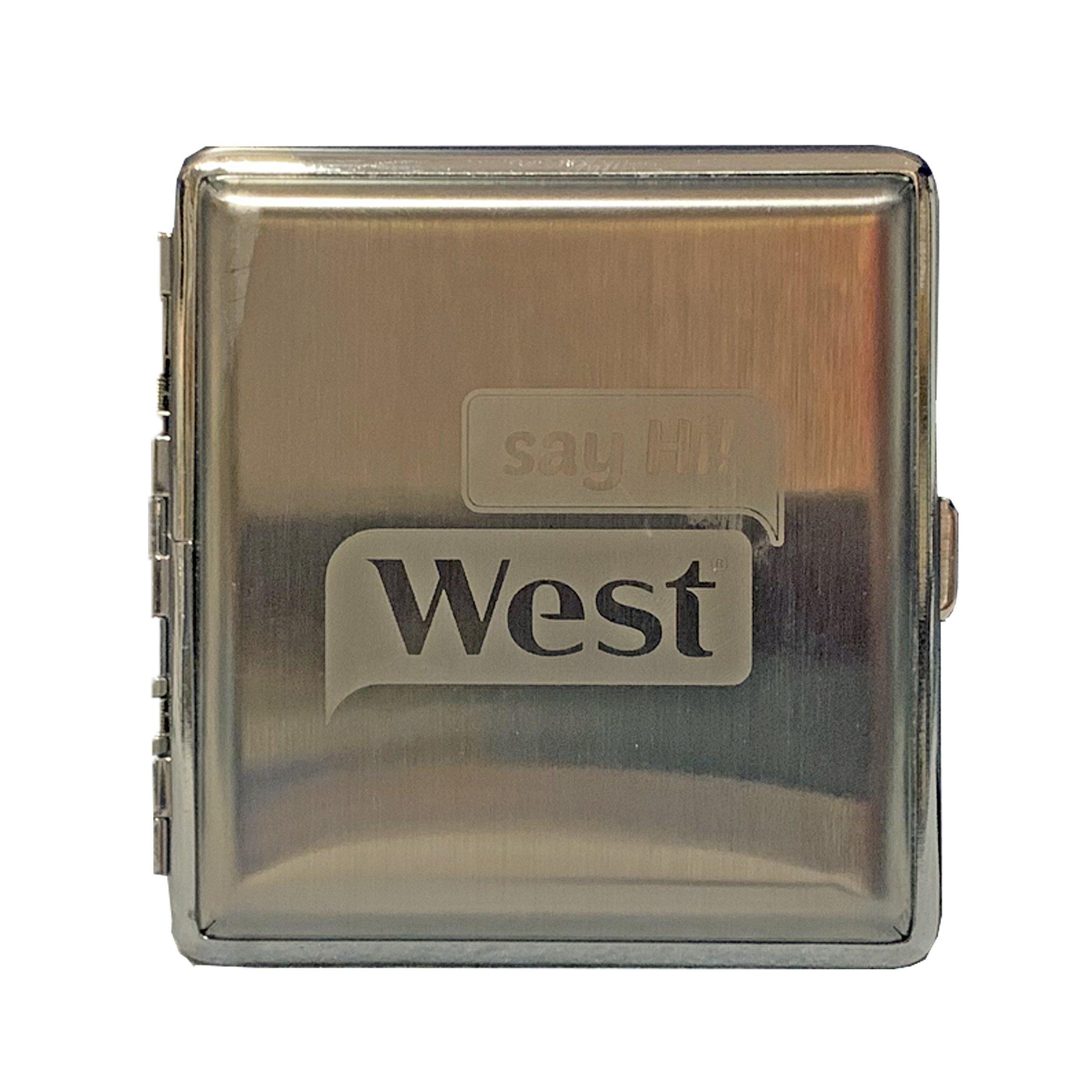West oder JPS Zigarettenetui aus Metall