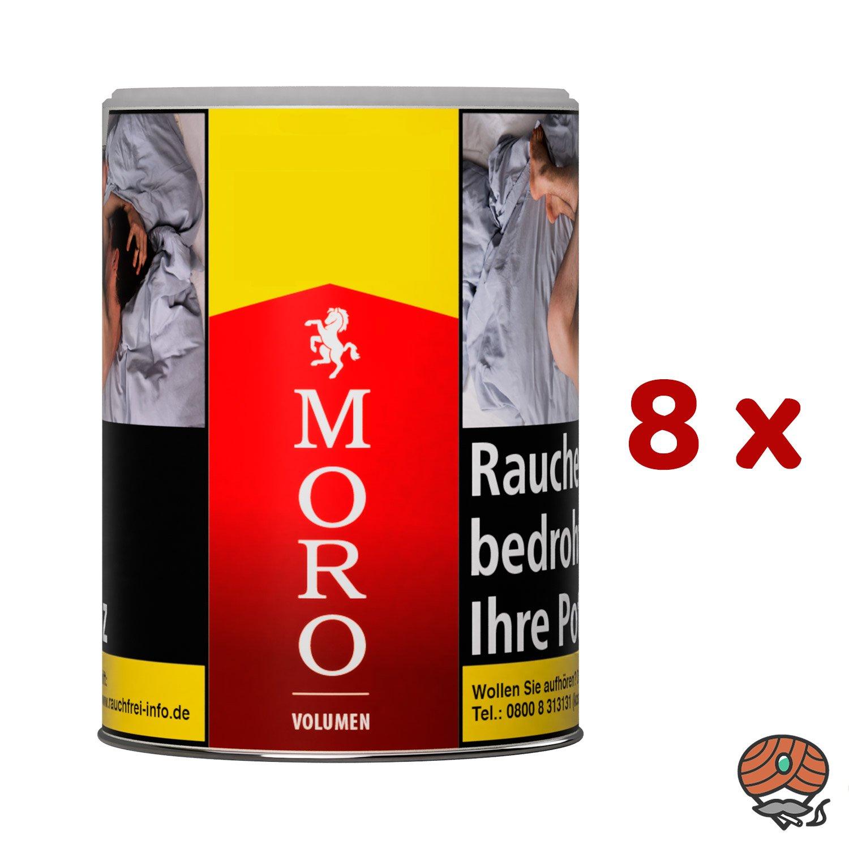 8 x Moro Rot Volumentabak Dose à 52 g