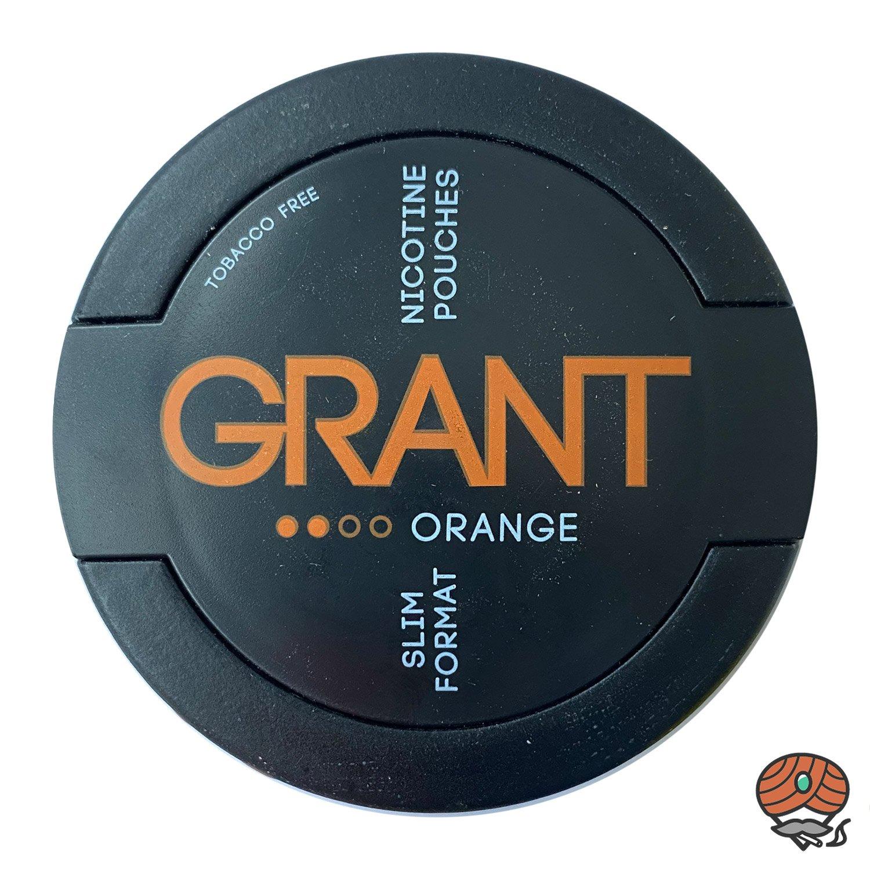 GRANT Orange Kautabak / Nicotine Pouches Slim Format Stärke 2