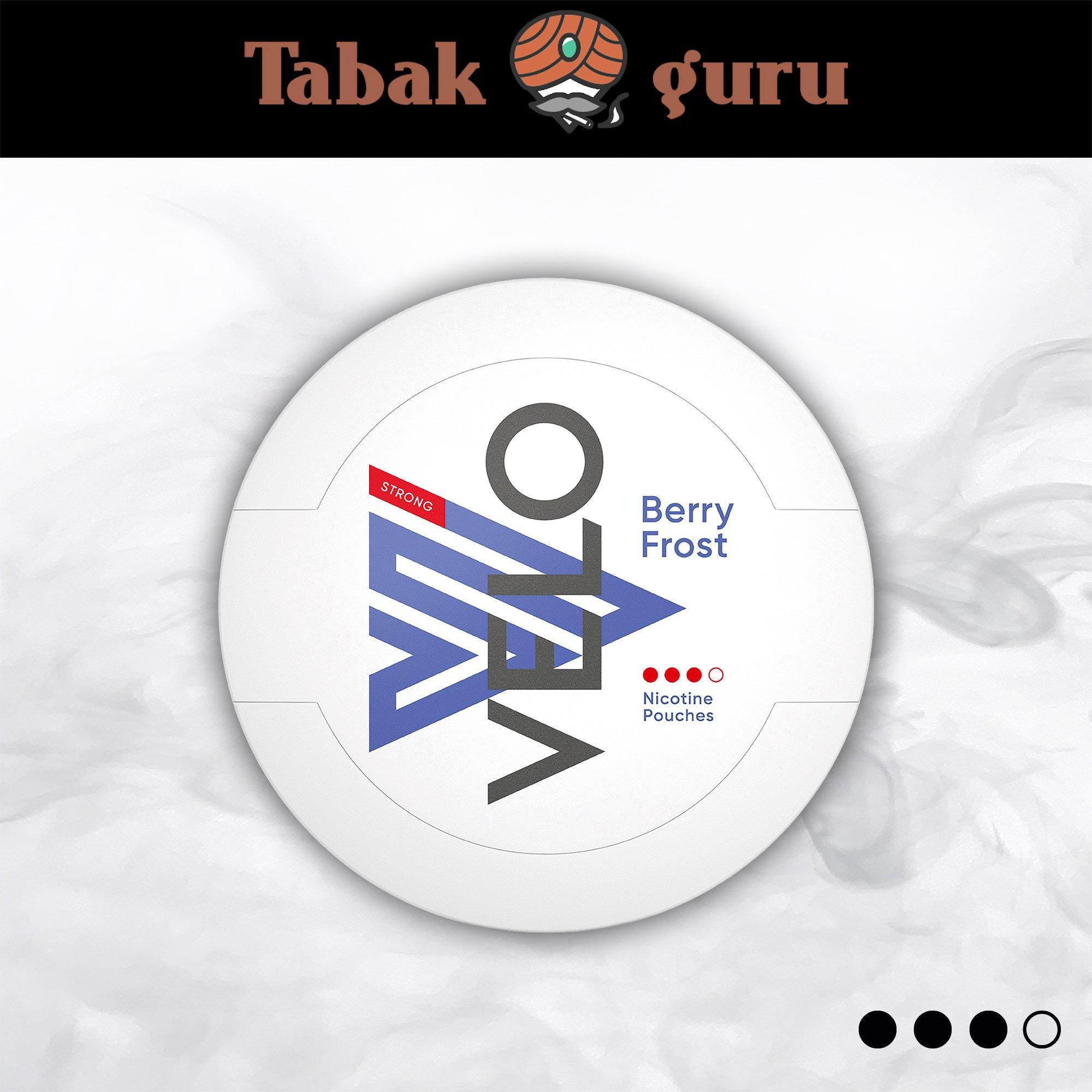 VELO Berry Frost Strong Aromatisch beerig Kautabak Intensität 3