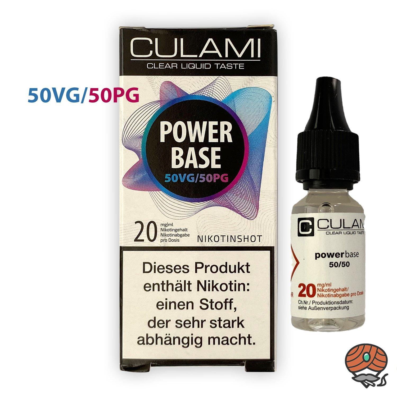 Nikotinshot 20 mg/ml, 50VG/50PG, Power Base von Culami, 10 ml