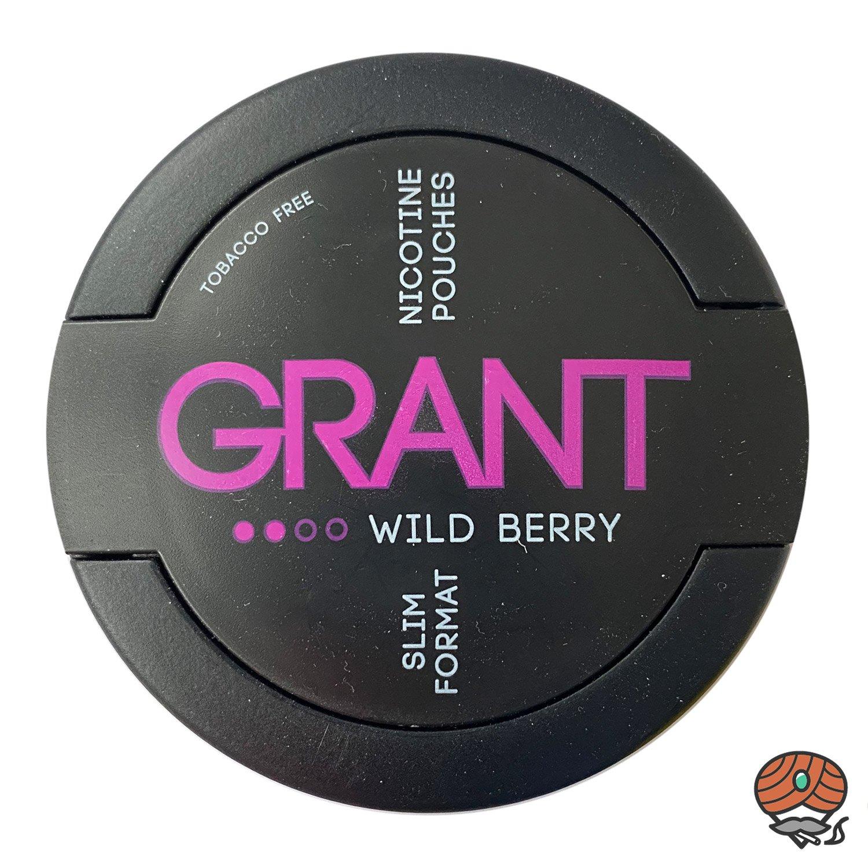 GRANT Wild Berry Kautabak / Nicotine Pouches Slim Format Stärke 2