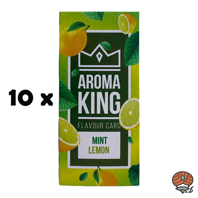 10 x Aromakarte MINT LEMON von Aroma King - Aroma für Tabak & Zigaretten