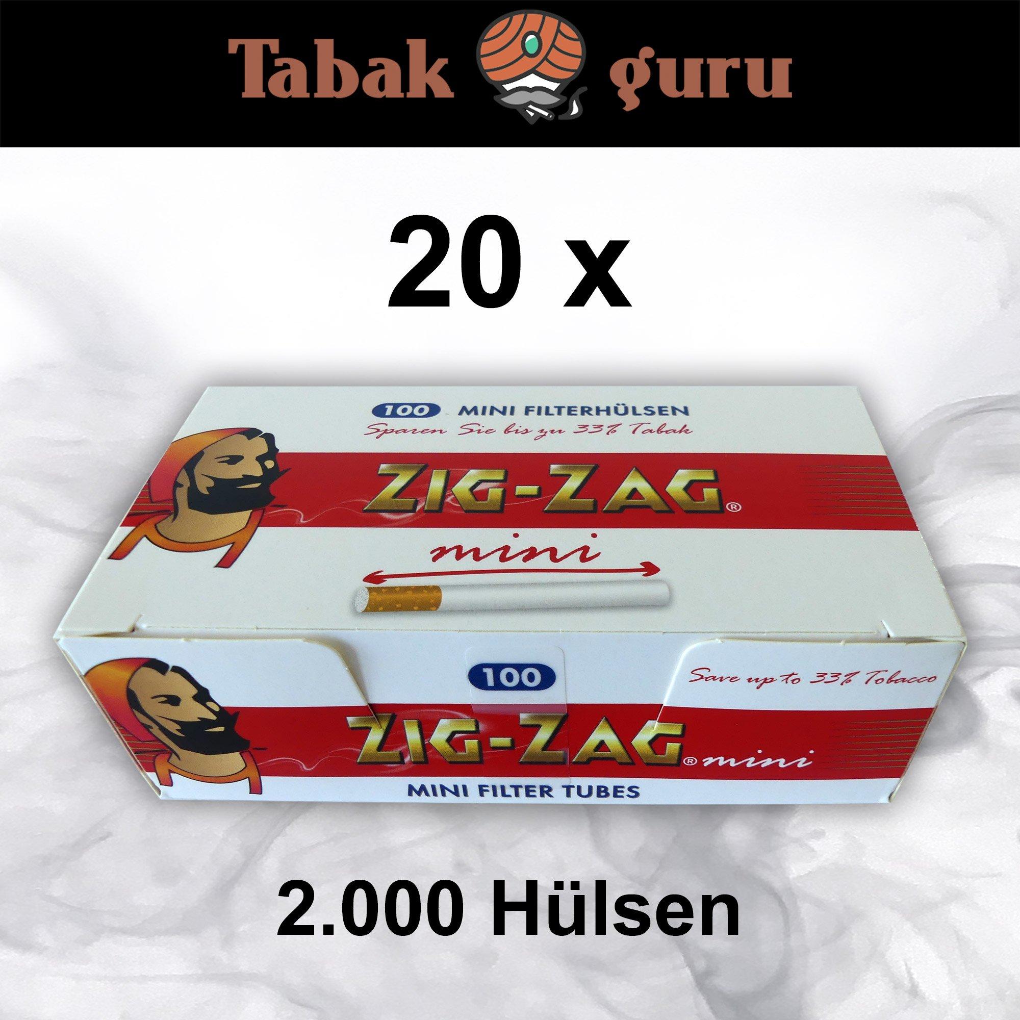20 x 100 Zig-Zag Mini Filterhülsen