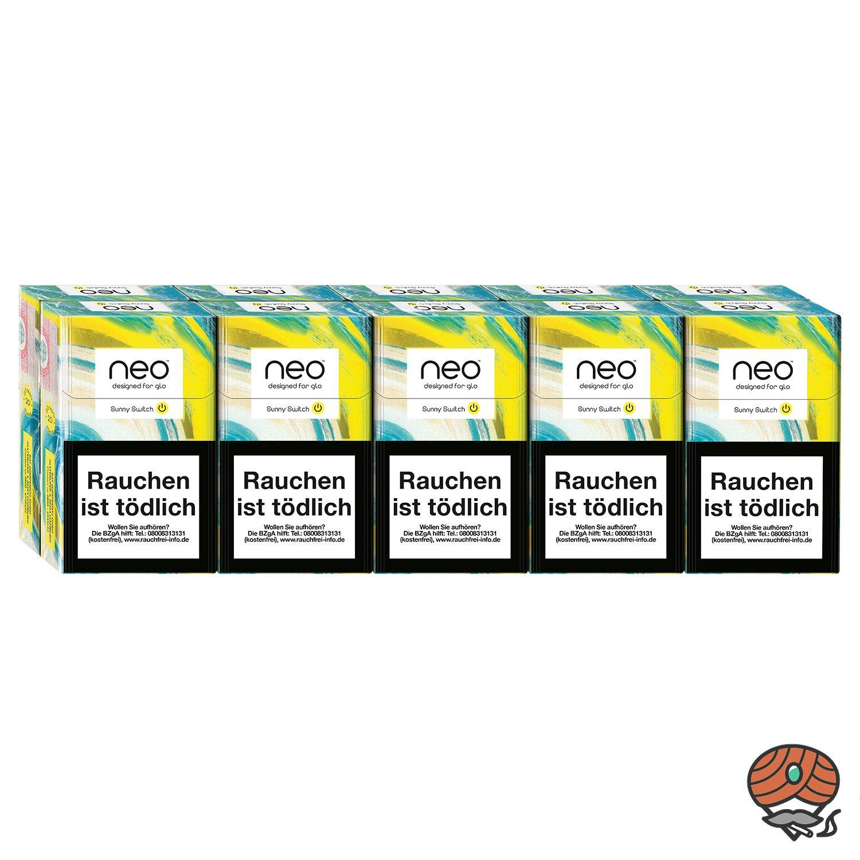 neo Sunny Switch für GLO - 10 x Tabak Sticks à 20 Stück