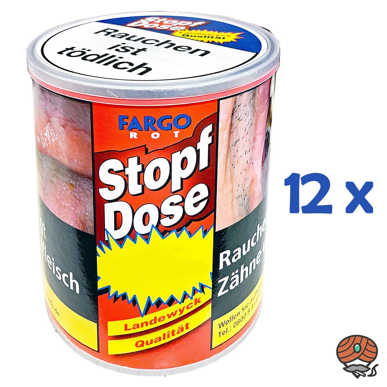 12x Fargo Rot Stopf-Dose Feinschnitt-Tabak à 95 g