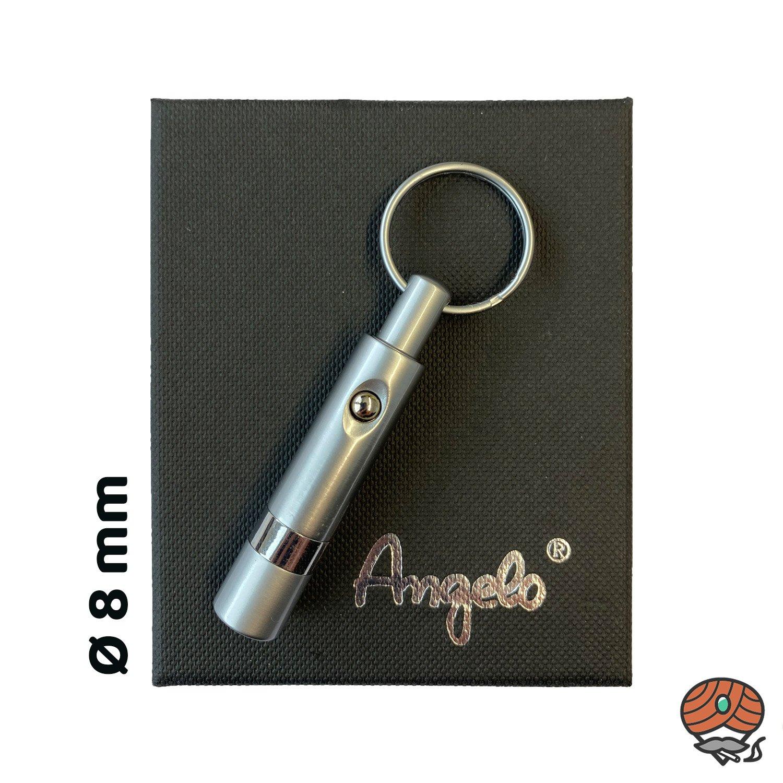 Angelo Zigarren-Bohrer aus Metall, Chrom, Automatik, Ø 8 mm