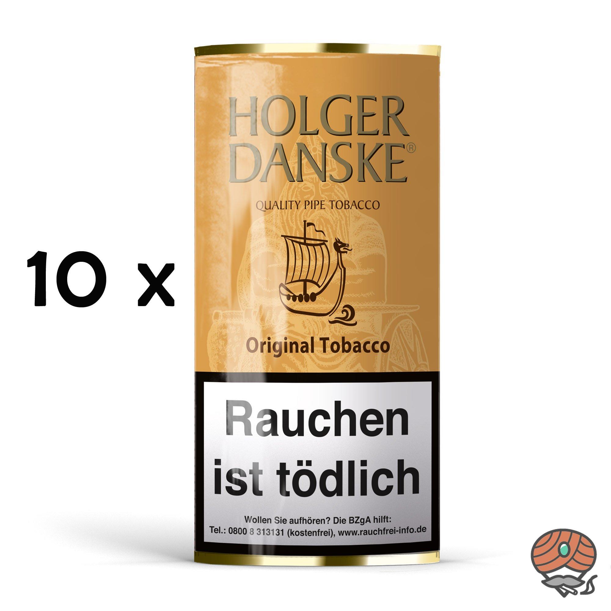 10x Holger Danske Original Tobacco Pfeifentabak à 40g