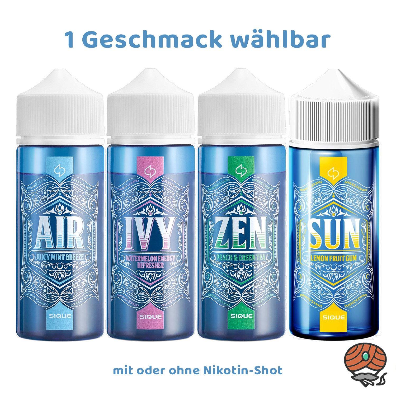 SIQUE Berlin Liquid alle Sorten á 100 ml mit oder ohne Shot wählbar