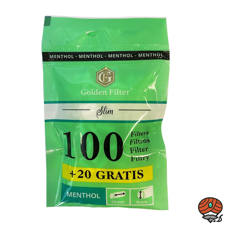 Golden Filter 120 Slim Menthol Filter Beutel