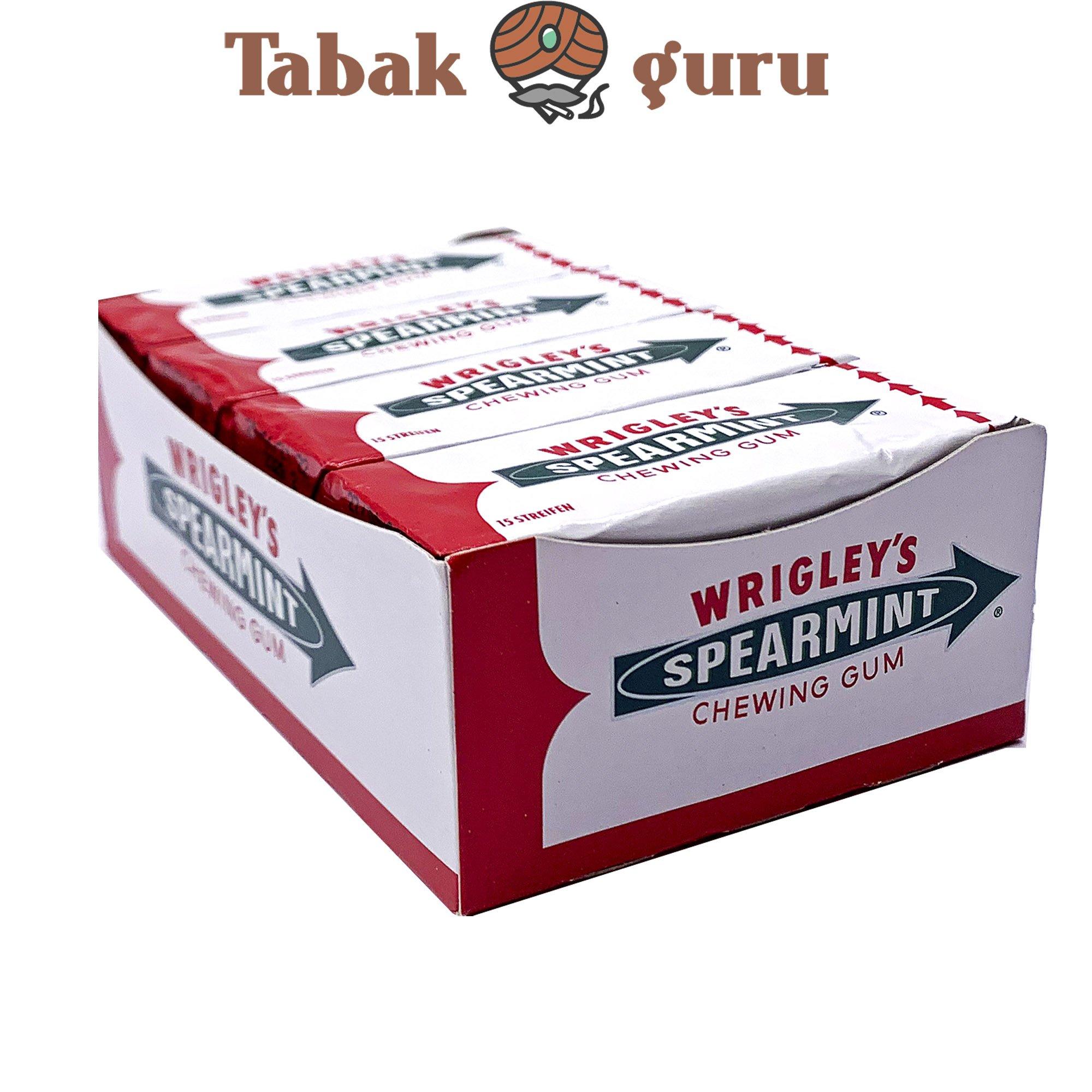 8 Pack Wrigley`s Spearmint Kaugummi á 15 Streifen